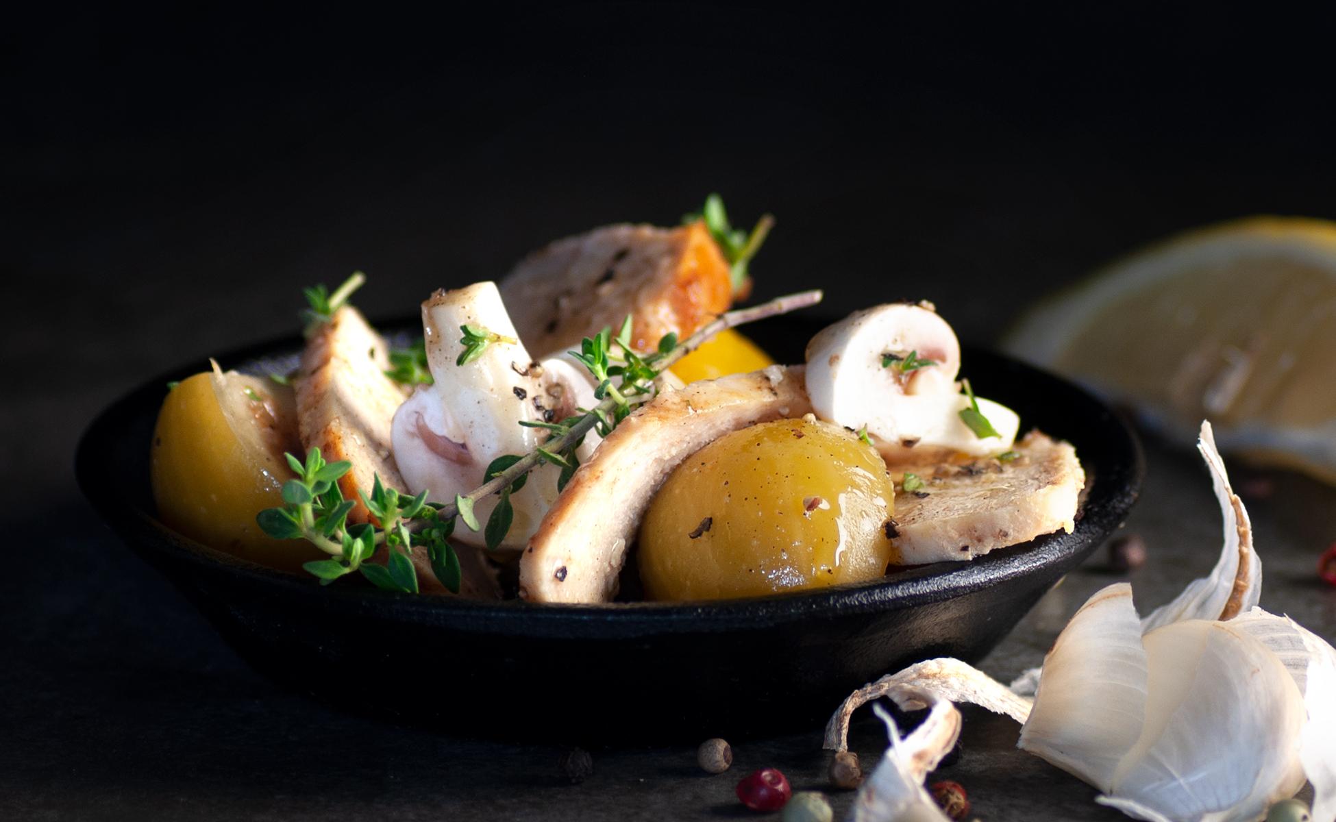 Spanischer Hähnchensalat