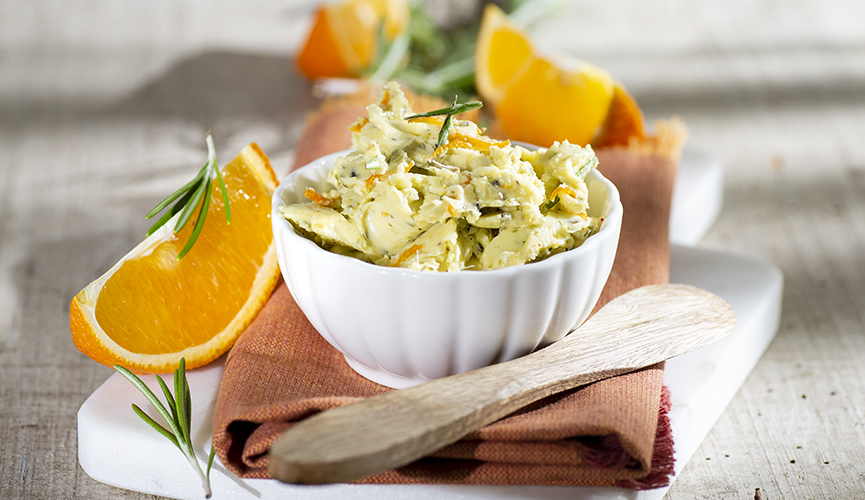 Orangen-Rosmarin-Butter