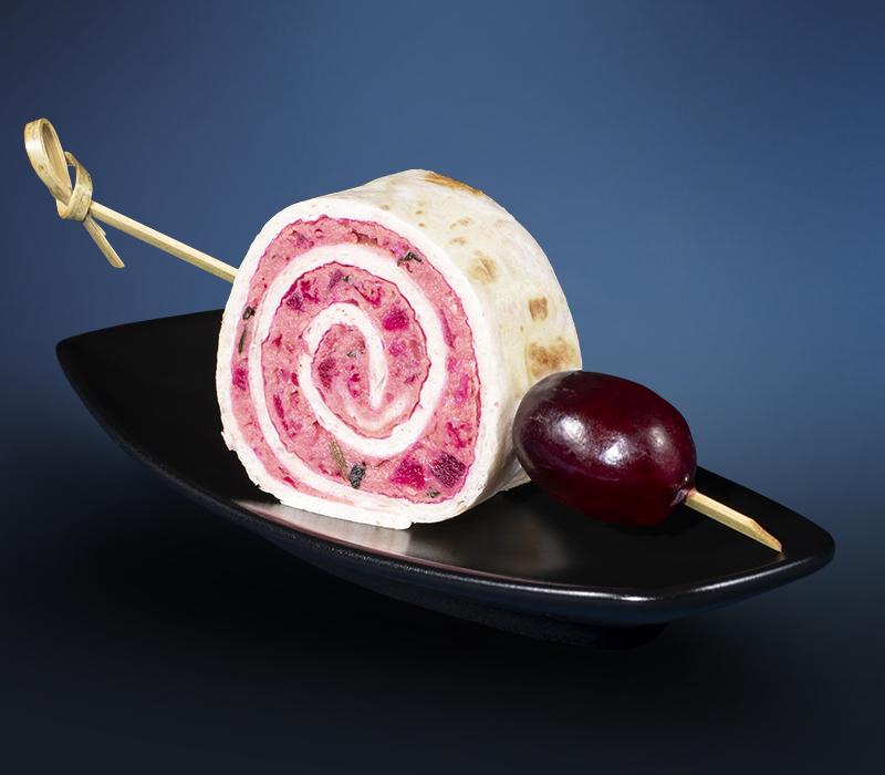 Hummus Rolle (vegan)