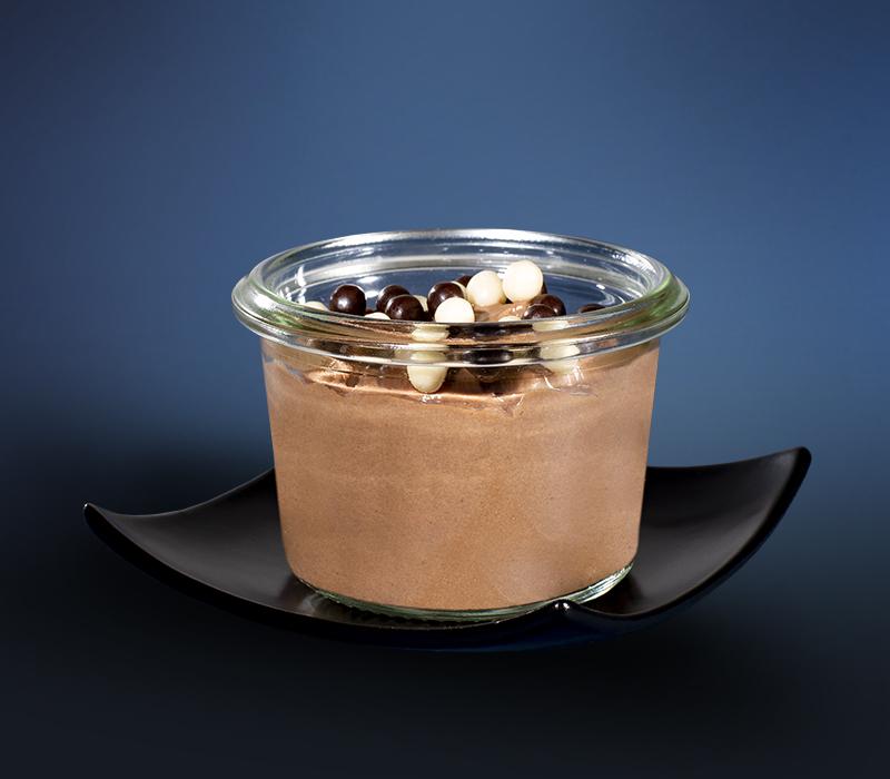Schokomousse dunkel im Mini-Weckglas