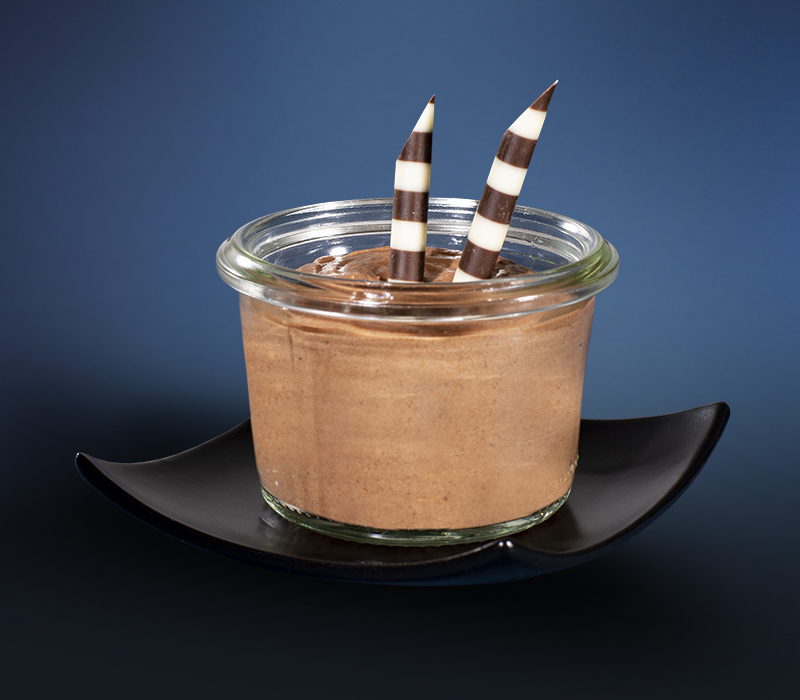 Mousse au Chocolat im Mini-Weckglas